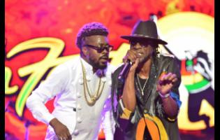Beenie Man (left) and Bounty Killer performing at Reggae Sumfest 2019.