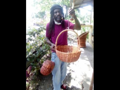 Thomas has a variety of wicker baskets.
